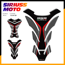 3D Resin Motorcycle Tank Pad Protector Case for Ducati 959 Panigale Corse Decals