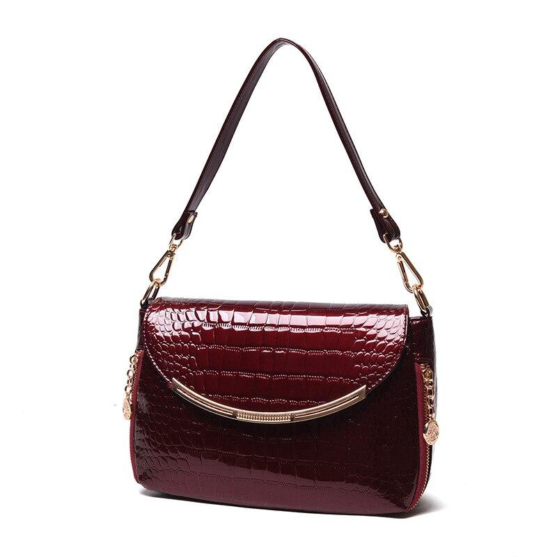 senhoras bolsas de grife de Modelo Número : Patent Leather Crocodile Bag