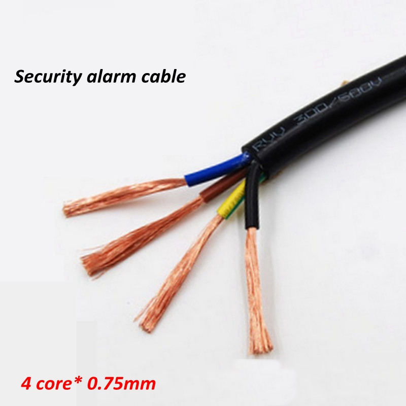 Security Fire Alarm Cable 100meter 2 4 Core Wire 0.25mm 0.75mm Diameter Fire Alarm Wire For Alarm System