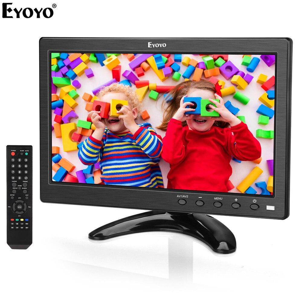 Eyoyo EM10V 10 pouces petit moniteur de télévision 1024x600 écran LCD TV/HDMI/VGA/AV/USB entrée pour DVD PC CCTV caméra de sécurité Raspberry Pi