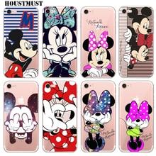 Фотография Cute Cartoon Mickey Minnie Case for iPhone 6S case 5 5S 7 7Plus 8 8Plus 6S Plus Back cover