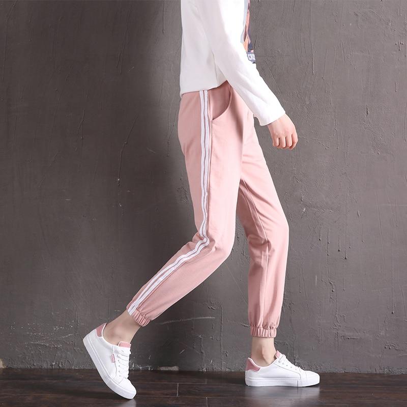 Para Tamaño De Las Grey Mujeres 2019 verde Plus Lado Primavera pink Casual Rayas Harem Mujer Sueltos Pantalones Light 2xl negro S Negro x8f64w