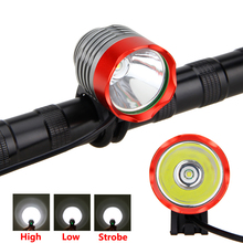 Front Bike Light 8000 Lumen XM-L T6 LED Bicycle Light 3 Modes Headlamp 2 in 1 Headlight Cycling Torch with Battery Pack+Charger цена 2017