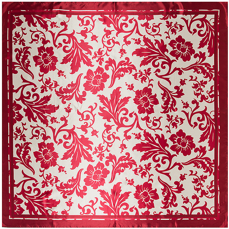 Free Shipping 2017 Silk Square Scarf 90*90cm Women Bandana Chinese Wind Small Flowers High Quality Fashion Shawl Ladies Scarves