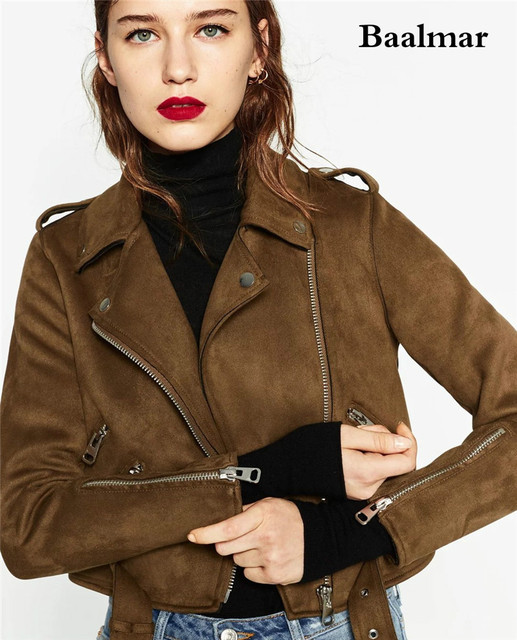 Veste en cuir femme de marque