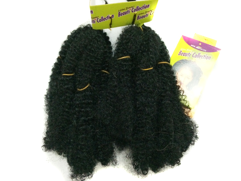 synthetic hair braid dendy beauti collection curly extension afro kinky bulk 1# sale - Funky Hair House store
