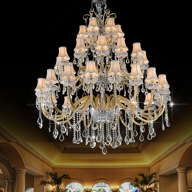 Luxury Large Chandelier Modern Sanctuary hall chandeliers with shade hotel Hall Complex Staircase Lighting Chandelier Large Lamp
