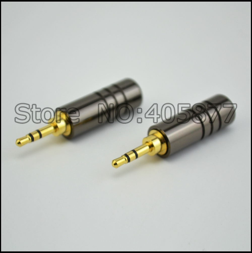 hight resolution of 2pcs 2 5mm 3 pole male repair headphone jack solder cable adapter connection audio plug connectors in plug connectors from consumer electronics on