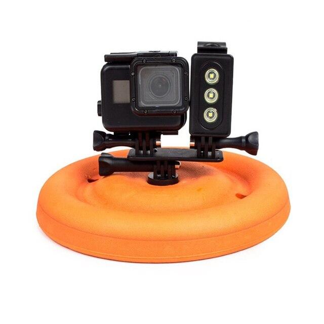 Floating Disc Water tray Buoy frisbee for Gopro Hero 3+ 4 5 6 xiaomi yi 4k Sjcam Sj4000 Sports action camera accessories 4