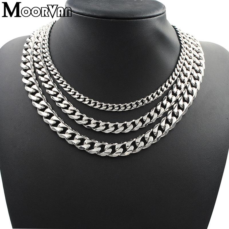 Muška ogrlica od 7 mm / 10 mm / 13 mm za muškarce ogrtač šest - Modni nakit - Foto 2