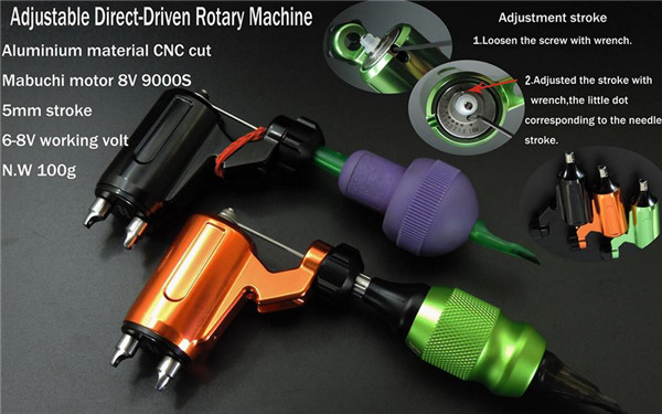 2017 High Quality Professional 3 color Rotary Tattoo Machine Assorted Liner&Shader Tattoo Gun Free Shipping tattoo machine rotary tattoo machine pen shader liner assorted tattoo motor gun kits tattoo supplies free shipping