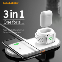 3 In 1 Wireless Charger For Apple Watch 4 3 2 1 Fast Charger For Airpods Iphone X Xs Max 8 Qi Wireless Charging Pad Carregador