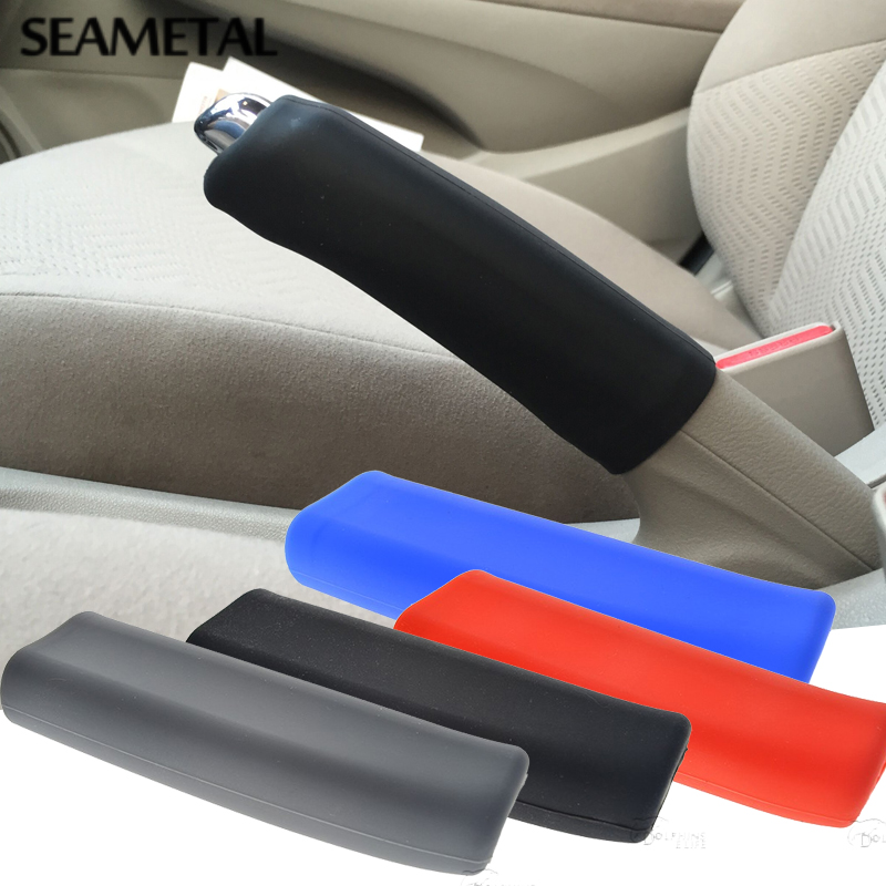 Car Handbrake Sleeve Silicone Gel Cover Anti-slip Multicolored Parking Hand Brake Sleeve Universal Decoration Auto Accessories