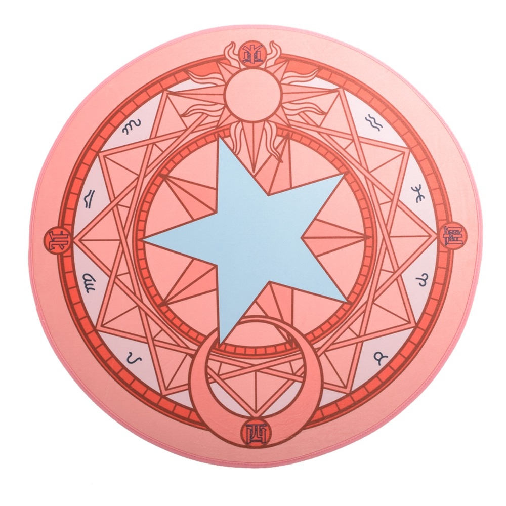 Costumes & Accessories Nice Anime Cardcaptor Sakura Cosplay Props Clow Tarot Card Round Carpet Rug Party Accessory Can Be Repeatedly Remolded.