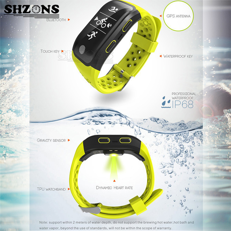 SHZONS Waterproof IP68 Sport Tester Smart Bracelet Bluetooth GPS Tracker Smartband Swimming Activity Monitor for Android IOS лак для волос taft taft ta033lwbdtg6