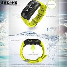 SHZONS Водонепроницаемый IP68 Спорт Тестер Smart Браслет Bluetooth GPS трекер SmartBand Одежда заплыва активности Мониторы для iOS и Android