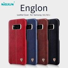 Для samsung galaxy s8 плюс case оригинальная крышка nillkin englon серия pu кожаный чехол case для galaxy s8 телефон обратно Shell