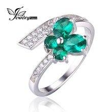 Jewelrypalace Mariposa 1ct Creado Especial Nano Ruso Esmeralda Anillo de Plata de Ley 925 2016 Nueva Joyería Fina Para Las Mujeres