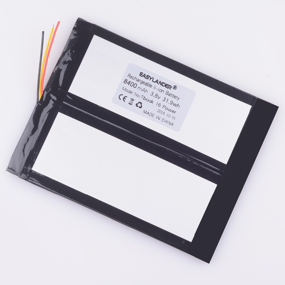 Li-Polymer Battery For TECLAST Tbook 16 Power  Rechargeable Accumulator Replacement New High Capacity 3.8V 8400mAh M5F6  IM5F8
