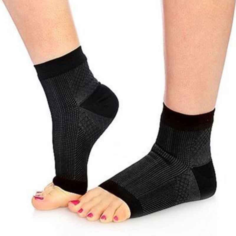 Kobiety mężczyźni przeciw zmęczeniu z wystającym palcem Pilates kompresja krótkie skarpety sportowe joga siłownia kostka rękaw Relief elastyczny