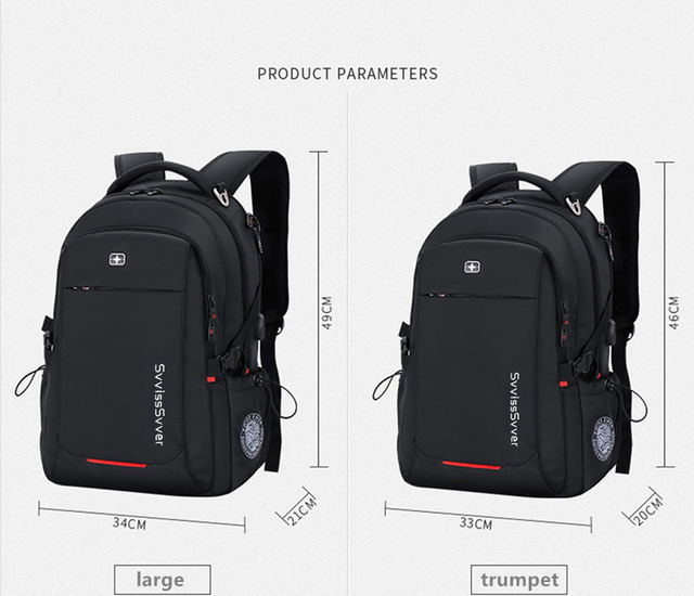 Multifunction USB charging casual travel backpack