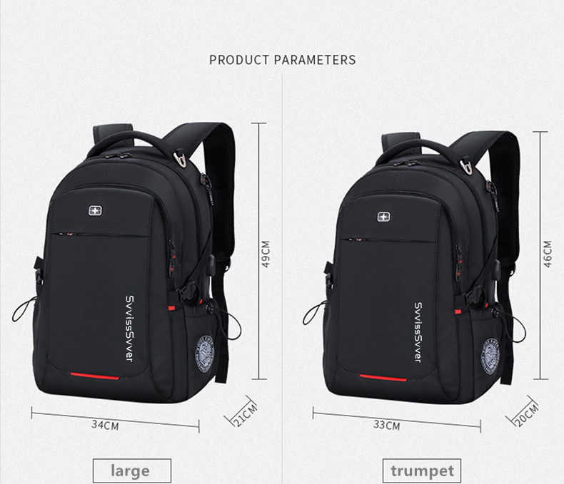Svvisssvver мужской многофункциональный USB зарядка Мода Повседневная Деловая путешествия Анти-Вор водонепроницаемый 15,6 дюймовый ноутбук мужчины рюкзак