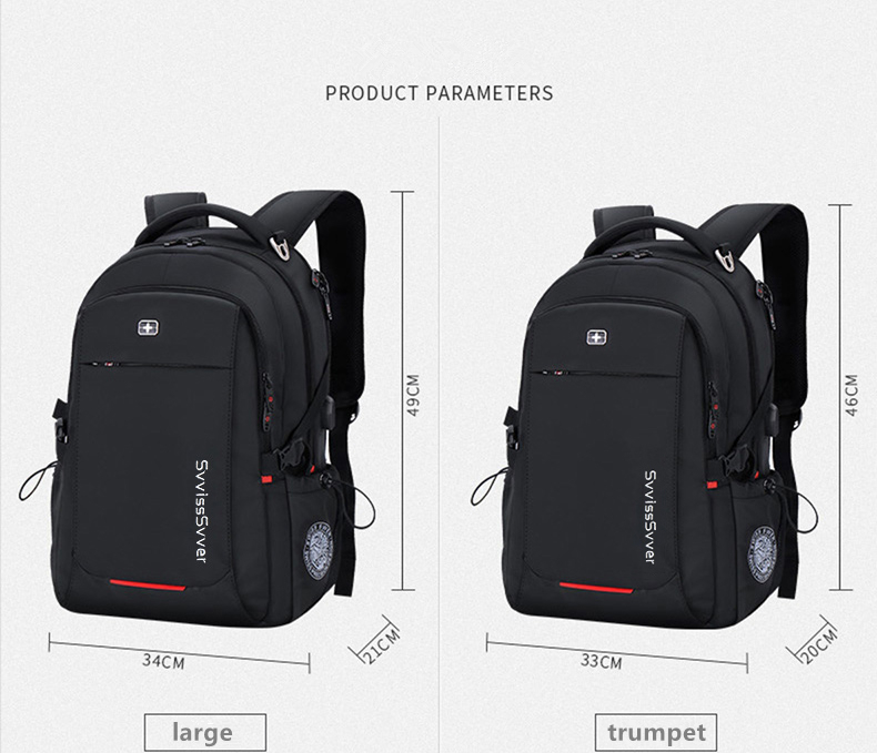 Image 3 - svvisssvver male Multifunction USB charging fashion business casual travel anti theft waterproof 15.6 inch Laptop men backpack-in Backpacks from Luggage & Bags