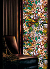 60*200cm Modern Magnolia Flower Glass Sticker Bathroom Balcony Sliding Door Frosted Window Film 3D Opaque Privacy Window Sticker