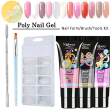 5pc/set Jelly Poly Gel Set 12colors UV Nail Gal Quick Building For Nails Extensions Hard With Brush Art Kits