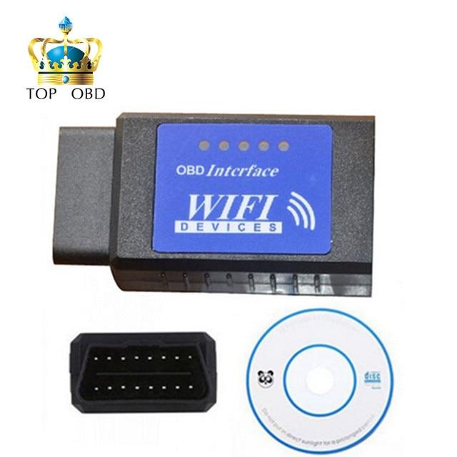 2017 Best quality elm327 Wifi Scanner Diagnostic Tool elm 327 wifi obd2 scanner V 2.1 Wireless Works on elm327 Torque