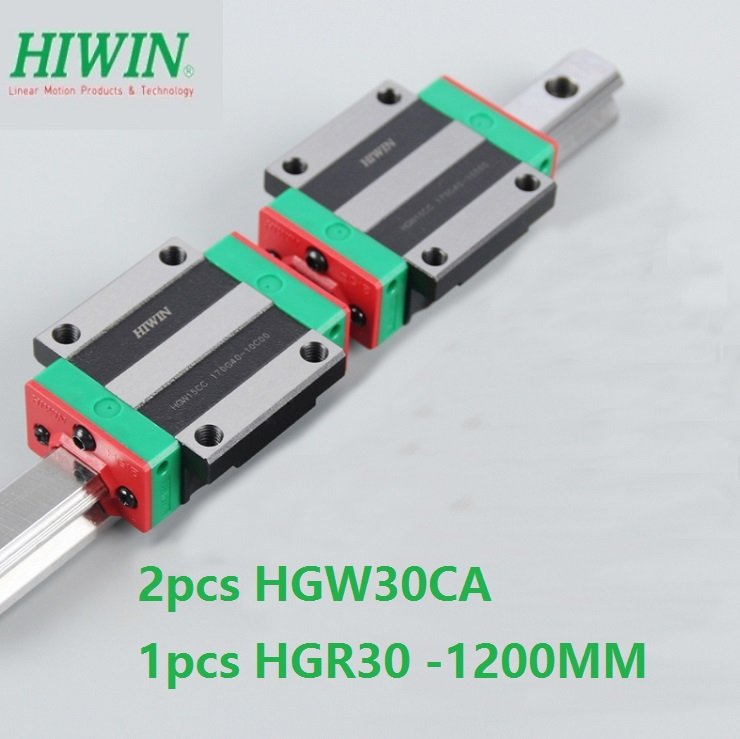 1pcs 100% original Hiwin linear guide HGR30 -L 1200mm + 2pcs HGW30CA HGW30CC flange block for cnc router1pcs 100% original Hiwin linear guide HGR30 -L 1200mm + 2pcs HGW30CA HGW30CC flange block for cnc router