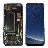 Coreprime 100% AMOLED 5,8 ЖК дисплей для samsung S8 G950F G950U G950 S8 Дисплей Сенсорный экран сборки Замена + рамка + Инструменты