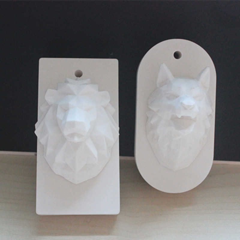 Silicone mold Wolf head lion aroma pendant car hanging baking tools
