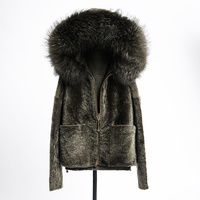 HUYOU 2018 Real Fur Parka Female With Raccoon Fur Collar Winter Jacket For Women Natural Genuine Lather Sheepskin Fur Coat