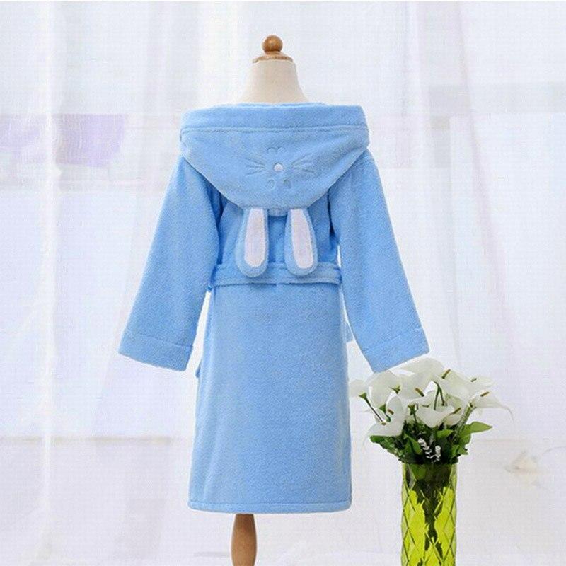 Children Hooded Bathrobe Towel Kids Boys Girls Cotton Lovely Robes ...