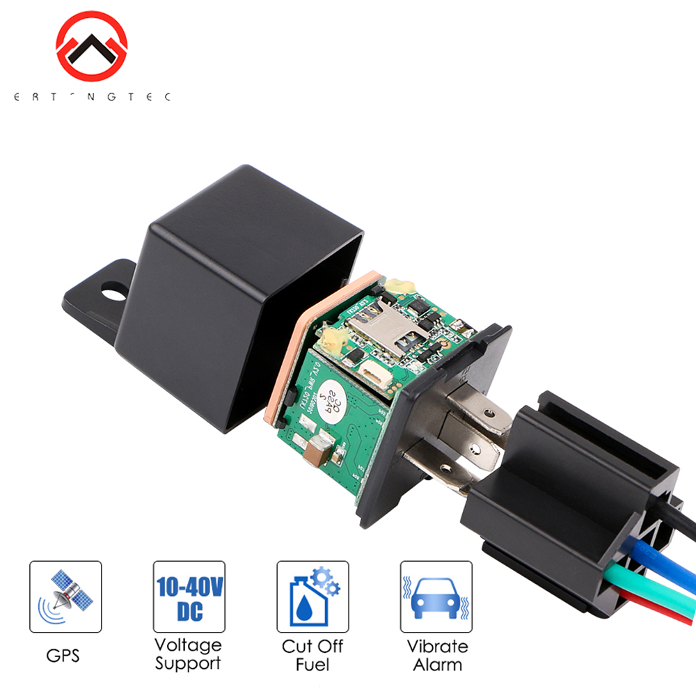 GPS Tracker Car Shock Alarm Car Relay Cut Off Oil Power GPS Vehicle Locator  Tracking Device Remote Control Anti-theft Monitoring