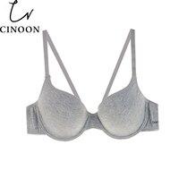 CINOON New Arrival Women Comfortable Cotton Underwear push up bra Gray Color Choose Bra B C Cup Plus size Women Underwear Bra