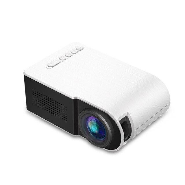 Novo yg210 casa micro projetor led mini projetor portátil 1080 p hd