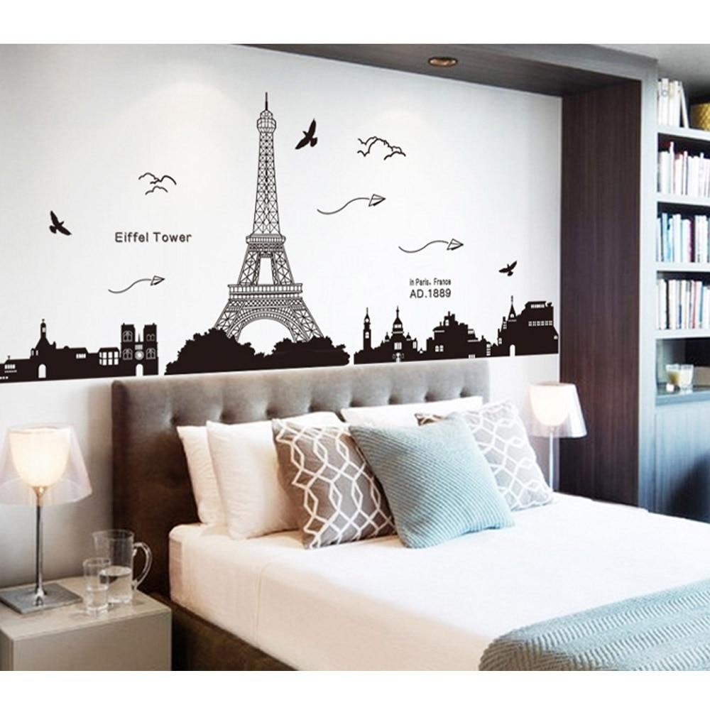 Paris Menara Eiffel Night View Indah Romantis Sederhana Hitam DIY