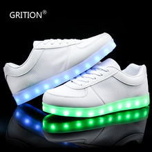GRITION LED Light Up Shoes Dance Shoes Shining LED USB Chargeable Electric Shoes with Lights Zapatos