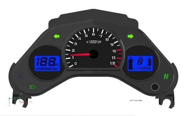 CBR150 ЦБ РФ-125Р 125cc мотоцикла передачей 150cc улица велосипед мотоцикл ЖК-цифровой одометр спидометр бесплатная доставка