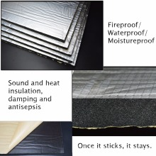 15 sqft звукоизоляционный коврик шумоизоляция теплоизоляция Автомобильная омертвевающая пена панели звукоизоляция хлопок Soun