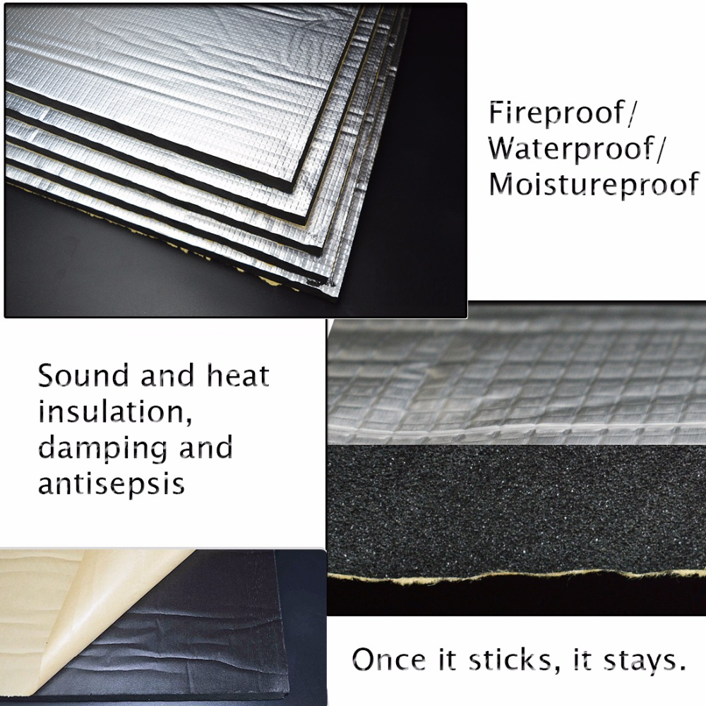 15 Sqft Sound Deadener Insulation Mat Noise Heat Shield
