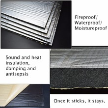 15 sqft Sound Deadener Insulation Mat Noise Heat Shield Insu