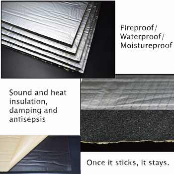 15 sqft Sound Deadener Insulation Mat Noise Heat Shield Insulation Automotive Deadening Foam Panels Sound Insulation Cotton Soun - DISCOUNT ITEM  0% OFF All Category