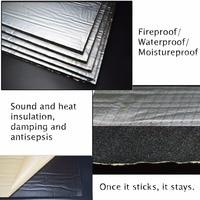 55 X 39 236 Mil 15 Sqft Sound Deadener Insulation Mat Noise Heat Shield Insulation