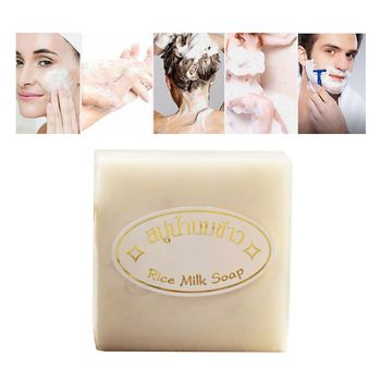 Handmade Soap Rice Whitening Deep Cleaning Wash Clean Oil Control Bath Soaps for Face Bathing фото