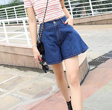 2019 New Women Loose High-Waisted Jeans Shorts Summer Fashion LBroad-Legged And