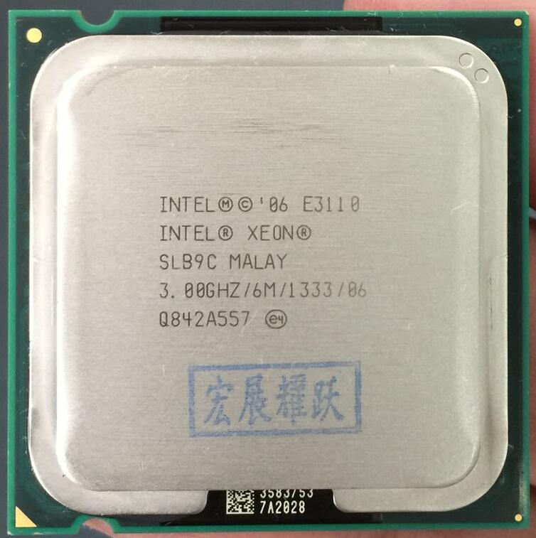 PC computer For Intel Xeon E3110 SLB9C EO CPU Processor (3.0Ghz/ 6M /1333GHz) Socket 775 free shipping SLB9C EO