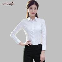 4XL Plus Size New Spring Autumn Woman Blouse Solid Color Long Sleeve Blouses Lady Office Work